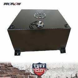 Proflow 15 Gallon 57l Flat Bottom Fuel Cell Anodized Black Foam Sender Brackets