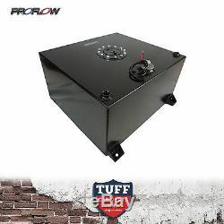 Proflow 57 Litre Fuel Cell Anodized Black Tank Foam Filled & Sender & Brackets