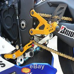 Racing Rear Set Footpeg Footrest For YAMAHA YZF-R1 R1M R1S 2015-2018