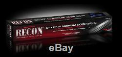 Recon 2002-2013 Dodge RAM 1500 2500 3500 Black Anodized Aluminum Door Sill-Blue