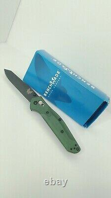 Replica Benchmade 940BK Osborne Knife Reverse Tanto Black Blade Green Handle