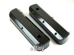 SBF 289/302/351 Fabricated Tall Alum Valve Covers Black Anodize BPE-2325BA