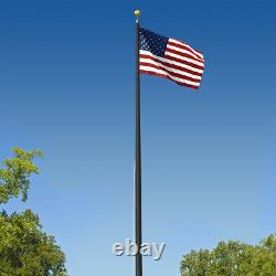 Super Tough Commercial Grade Sectional 25 foot Flagpole Black Anodized