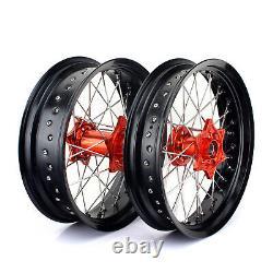 Supermoto 17'' KTM Complete Wheels Set for KTM EXC SX-F 125 250 300 450 525 530