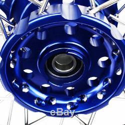 Suzuki DR650 1996-2018 Supermoto Wheels set 17 Supermotard Black blue hub