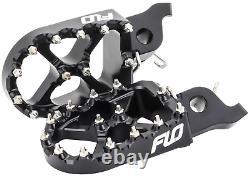 Suzuki RMZ250 / RMZ450 Black Foot Pegs FLO MOTORSPORTS