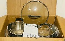 T-fal E765SEFA Ultimate Hard Anodized Nonstick 14 Piece Cookware Set, Black