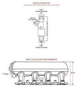 TSP LS1/LS2/LS6 Fabricated 102mm Intake Manifold Kit, Black Anodized, Aluminum