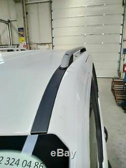 To Fit 2014+ Ford Transit / Tourneo Connect LWB Roof Rails Black