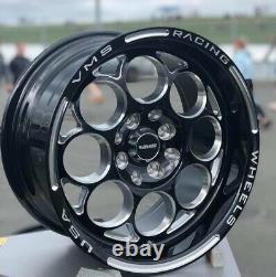 VMS Racing Black Modulo Milling Finish Drag Wheel Rim 15x8 5X100/114.3 ET20 2x