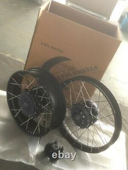 VMX 2.1521/4.2518 Tubeless Wheels Rims For HONDA Africa Twin BLACK hub & rim
