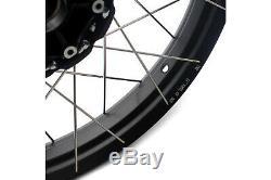 VMX 21 17 Tubeless Wheels Set for BMW F800GS ADVENTURE 2008-2019 Black Rim