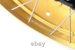 VMX 3.019''/4.517 Tubeless Wheels For BMW R1200GS Adventure 2013-2020 Gold Rim