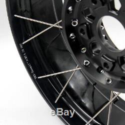 VMX RACING 19 17 Tubeless Wheels Set for BMW R1200GS ADVENTURE 2013-2019 BLACK