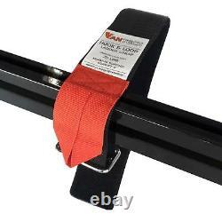 Vantech Black H1 2 Bar Aluminum Ladder Roof Rack for Ford Transit Cargo 2015-On