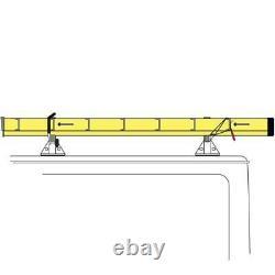 Vantech Black H1 3 Bar Aluminum Ladder Roof Rack for Ford Transit Cargo 2015-On