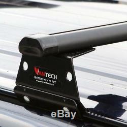 Vantech Black H3 3 Bar Aluminum Ladder Roof Rack (no acc)Chevy Express 1996-On