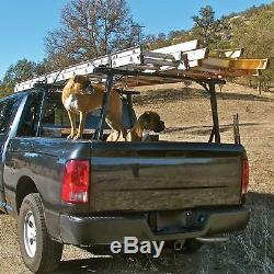 Vantech P3000 Aluminum Ladder Rack System. Fits RAM RamBox Pickup Truck Black
