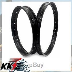 Wheel Rim Set 1.621 & 2.1518 (7050al) For Honda Ktm Yamaha Suzuki 32 Holes