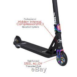 Xspec Black Neo Chrome Pro Stunt Kids Kick Scooter Anodized Aluminum BMX