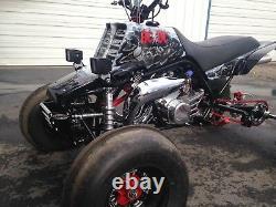 Yamaha Banshee Front ATV Bumper Black Anodized Aluminum