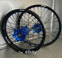 Yamaha YZ250F YZ450F Motocross Wheels Rims Black Blue Complete 19/21 YZ250 YZ125
